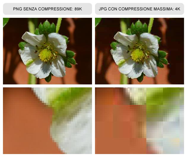 Esempio compressione immagine per web
