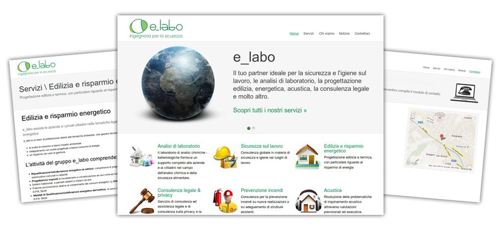 Nuovo sito per e labo siti web vicenza siti web arzignano for Sito web di progettazione edilizia