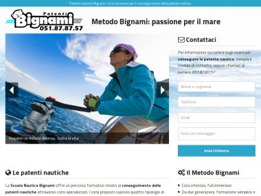 Landing page Patenti Bignami