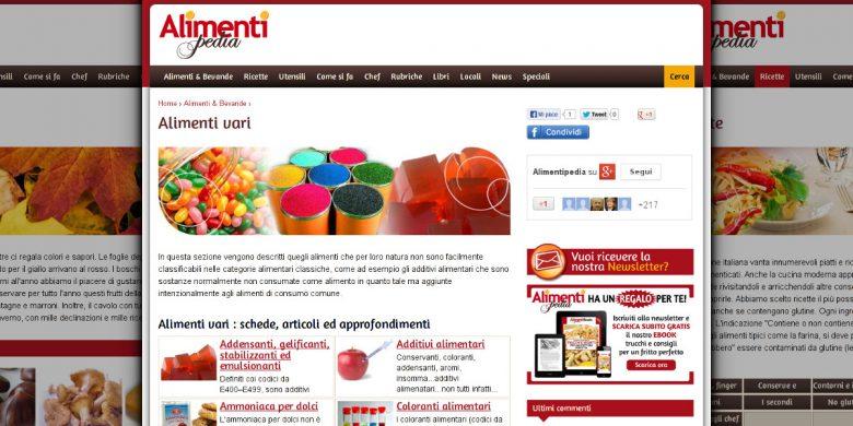 Sito Drupal 7 Alimentipedia.it