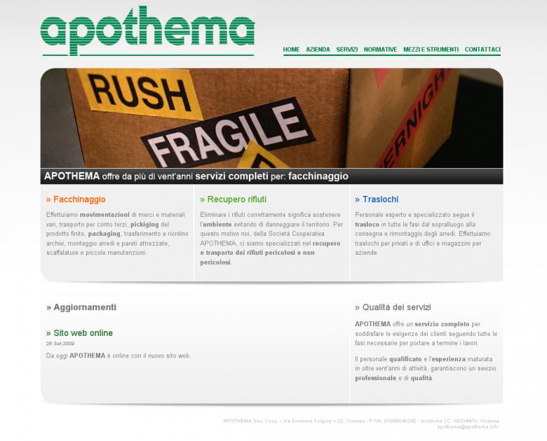 APOTHEMA - Sito web istituzionale