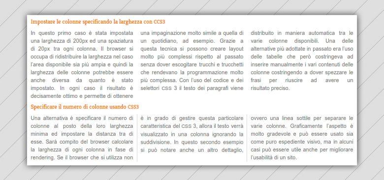 CSS3 per migliorare l'impaginazione delle pagine web
