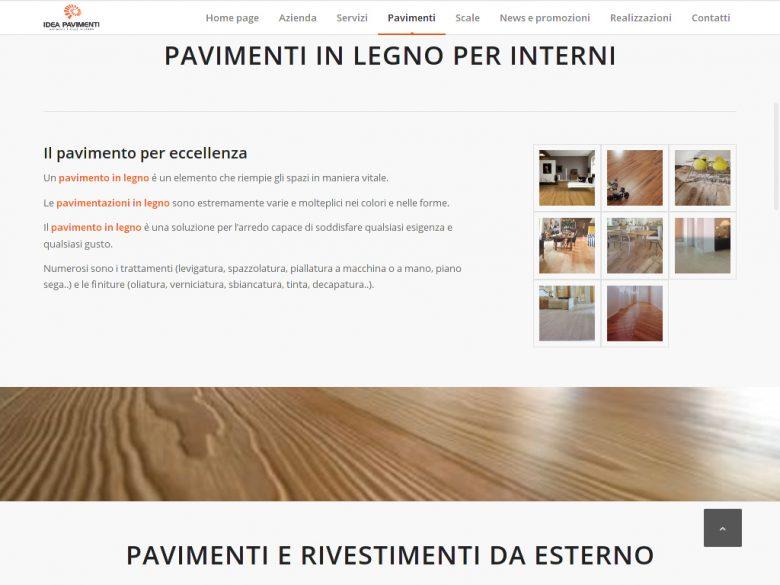 Esempio pagina sito Idea Pavimenti