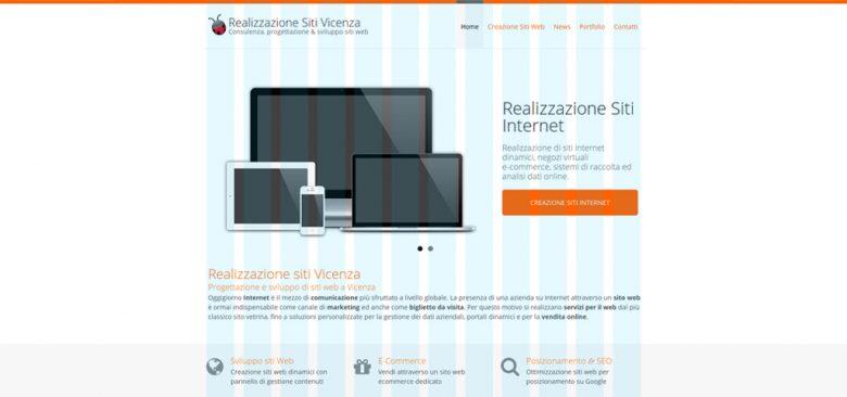 Layout grafico Realizzazione siti Vicenza