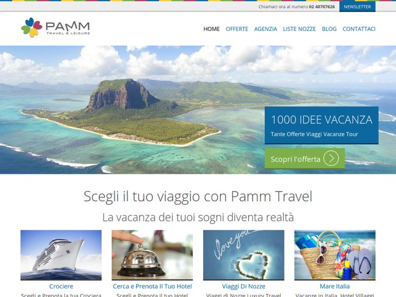 Nuovo sito web Pamm Travel