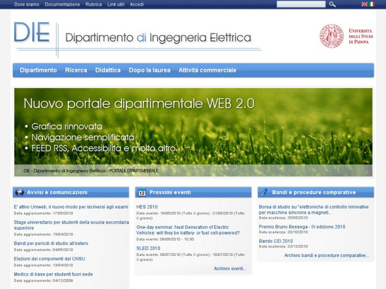 Dipartimento di Ing. Elettrica Università degli Studi di Padova