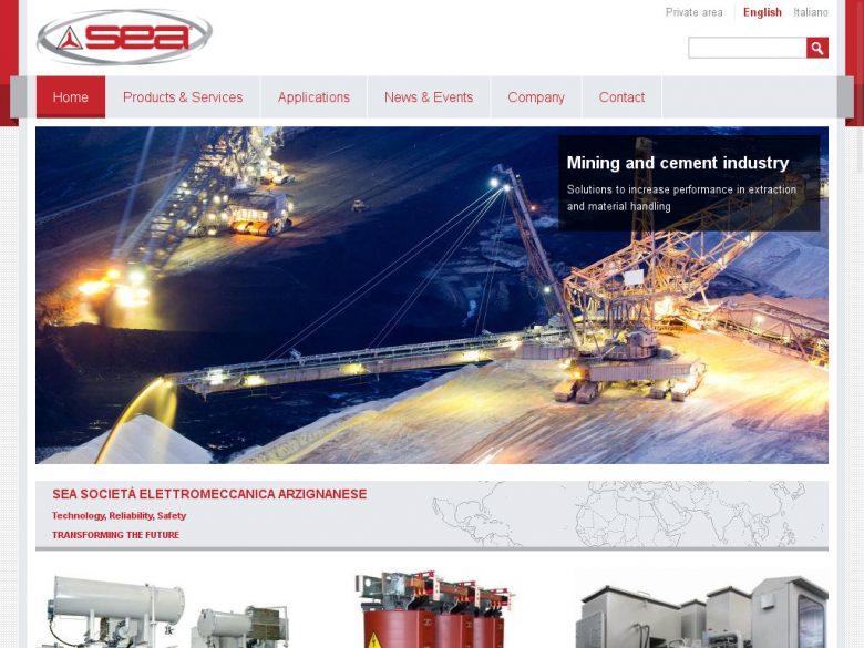 Nuovo sito Web SEA Trasformatori