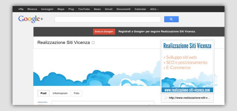 SEO Vicenza: nuovo Layout Google+