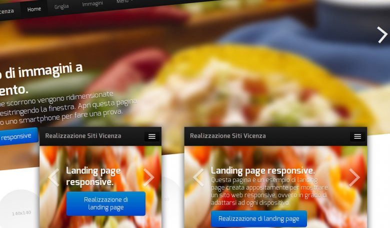 Esempio di landing page responsiva in HTML5