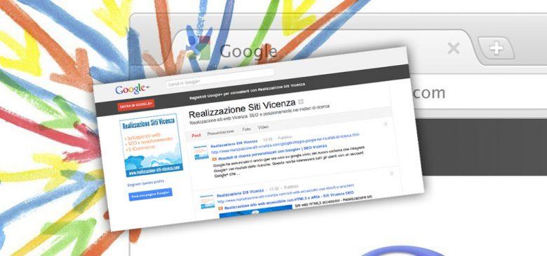 Siti Vicenza : SEO con Googleplus