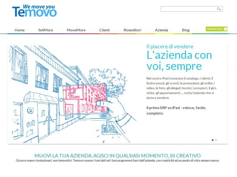 Esempio del sito web Temovo