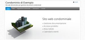 Demo sito web per condomini