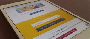 Sito Drupal responsive visto da iPad